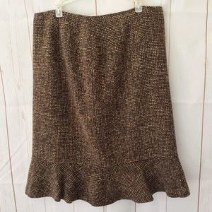 Ann Taylor Vintage Tweed Boucle Tulip Skirt